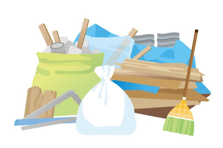 大量のゴミ処分